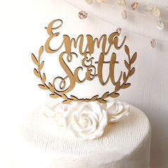 Personalized Bride And Groom Wood Cake Topper (119187776)