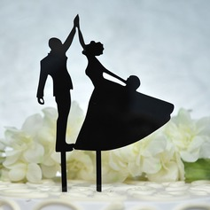 Mr. & Mrs./Love Is Sweet Acrylic Cake Topper