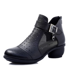 Women's Leatherette Heels Dance Boots With Buckle Dance Shoes