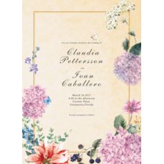 Floral Accessory Wedding Cards