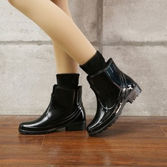 Women's PVC Low Heel Boots Rain Boots With Others shoes (088131039)
