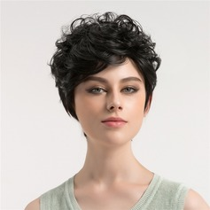 Body Wavy Synthetic Hair Capless Wigs 220g