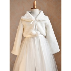 Flower Girl Faux Fur Wraps (198076622)