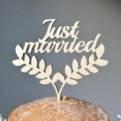 """""""Just Married"""" Acrylic/Wood Cake Topper"""
