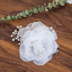 Ladies Exquisite Imitation Pearls/Silk Flower Combs & Barrettes