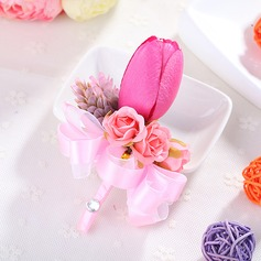 Girly Fabric Boutonniere/Men's Accessories -