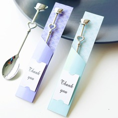 """Tea Time"" Heart Shaped Metal Spoon Set"