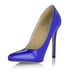 Patent Leather Stiletto Heel Pumps Closed Toe shoes (085053017)