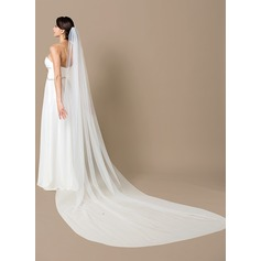 One-tier Cathedral Bridal Veils With Cut Edge (006066066)