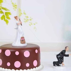 """Fishing Love"" Resin Wedding Cake Topper"