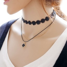 Beautiful Alloy Lace With Lace Ladies' Fashion Necklace