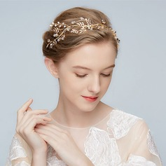 Beautiful Alloy Tiaras With Rhinestone/Venetian Pearl/Crystal (Sold in single piece)
