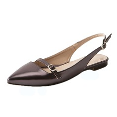 Women's Leatherette Flat Heel Flats Slingbacks shoes (086090826)