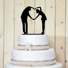 Figurine Sweet Love Acrylic Wedding Cake Topper/Bridal Shower Cake Topper
