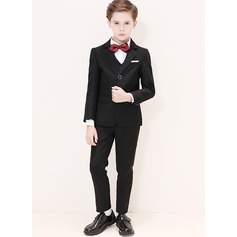 Boys 5 Pieces Classic Ring Bearer Suits /Page Boy Suits With Jacket Shirt Vest Pants Bow Tie (287204962)