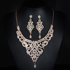 Gorgeous Alloy/Rhinestones With Rhinestone Ladies' Jewelry Sets
