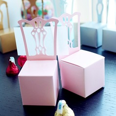 Girls Pink Chair Favor Box and Place Card Holder