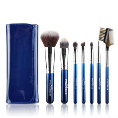 Fibres artificielles Mode 7Pcs Bleu Pouch Maquillage