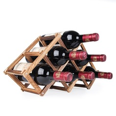 Wine Rack Wooden Simple Clear Table Centerpieces