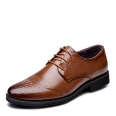 Men's Microfiber Leather Lace-up Casual Work Men's Oxfords