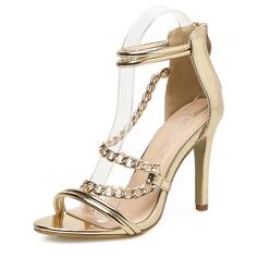 Frauen Lackleder Stöckel Absatz Sandalen Absatzschuhe Peep Toe mit Reißverschluss Schuhe