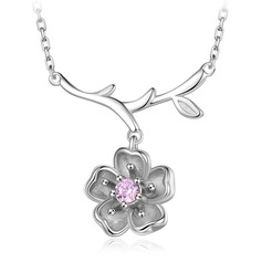 Gorgeous Zircon Silver With Zircon Ladies' Fashion Necklace (Sold in a single piece)