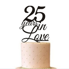 """25th anniversary love"" Letter Acrylic Anniversary Cake Topper"