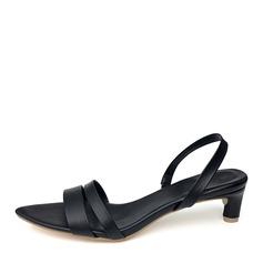 De mujer Cuero Tacón bajo Sandalias con Banda elástica zapatos