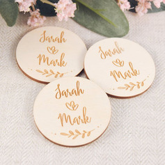 Personalized Round Wooden Save-the-date Magnets/Fridge Magnet