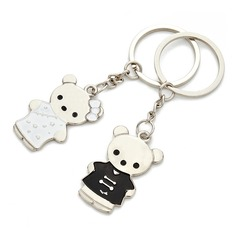 "Personalized ""Tang Suit Bear"" Stainless Steel Keychains"