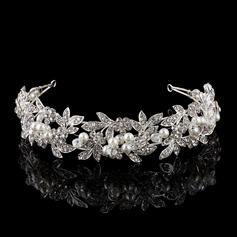 Magnifique Strass/Alliage/De faux pearl Tiaras avec Strass/Perle Vénitienne (Vendu dans une seule pièce)