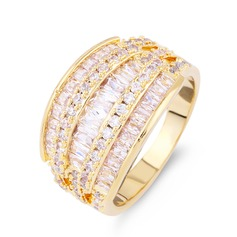Unique Zircon Brass With Zircon Women's Fashion Rings