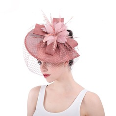 Dames Exquis/Accrocheur/Romantique Batiste avec Feather/Tulle Chapeaux de type fascinator/Kentucky Derby Des Chapeaux/Chapeaux Tea Party