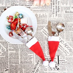 4pcs/Set Christmas Hat Cutlery Favor Bag Dinner Decor) Gifts