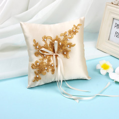 Gorgeous Lace/Cloth Ring Pillow With Ribbons