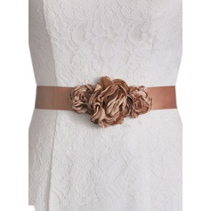 Unique Satin Sash With Flower