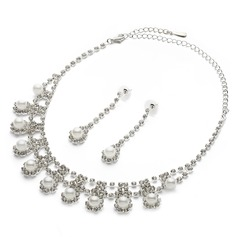 Charming Alloy/Pearl/Silver Plated With Rhinestone Ladies' Jewelry Sets