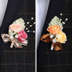 Classic Free-Form Cloth Boutonniere - Boutonniere