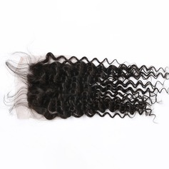 "4""*4"" 5A Curly Human Hair Closure (Sold in a single piece)"