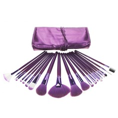 21 Pcs Nylon Hair Makeup Brush Set With Purple Pouch (046049085)