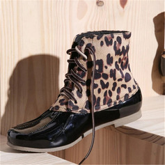 Women's Patent Leather Low Heel Boots With Split Joint shoes