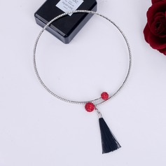 Chic Alloy Gold Plated With Rhinestone Imitation Stones Ladies' Fashion Necklace