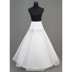 Women Nylon/Tulle Netting Ankle-length 2 Tiers Petticoats