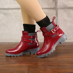 Women's PVC Low Heel Boots Rain Boots With Buckle shoes (088131037)