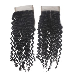 "4""*4"" 4A Non remy Curly Human Hair Closure (Sold in a single piece) 30g"