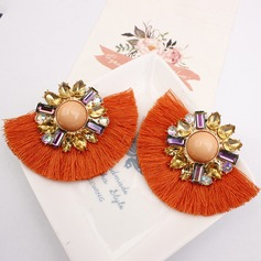 Alloy Rhinestones With Tassels Women's Fashion Earrings