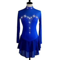 Women's Dancewear Spandex Latin Dance Performance Dresses