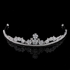 Ladies Elegant Zircon Tiaras With Cubic Zirconia (Sold in single piece)