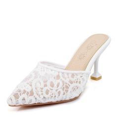 Frauen Mesh Stöckel Absatz Sandalen Absatzschuhe Schuhe