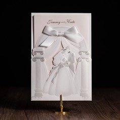 Personalized Bride & Groom Style Wrap & Pocket Invitation Cards With Bows  (114084664)